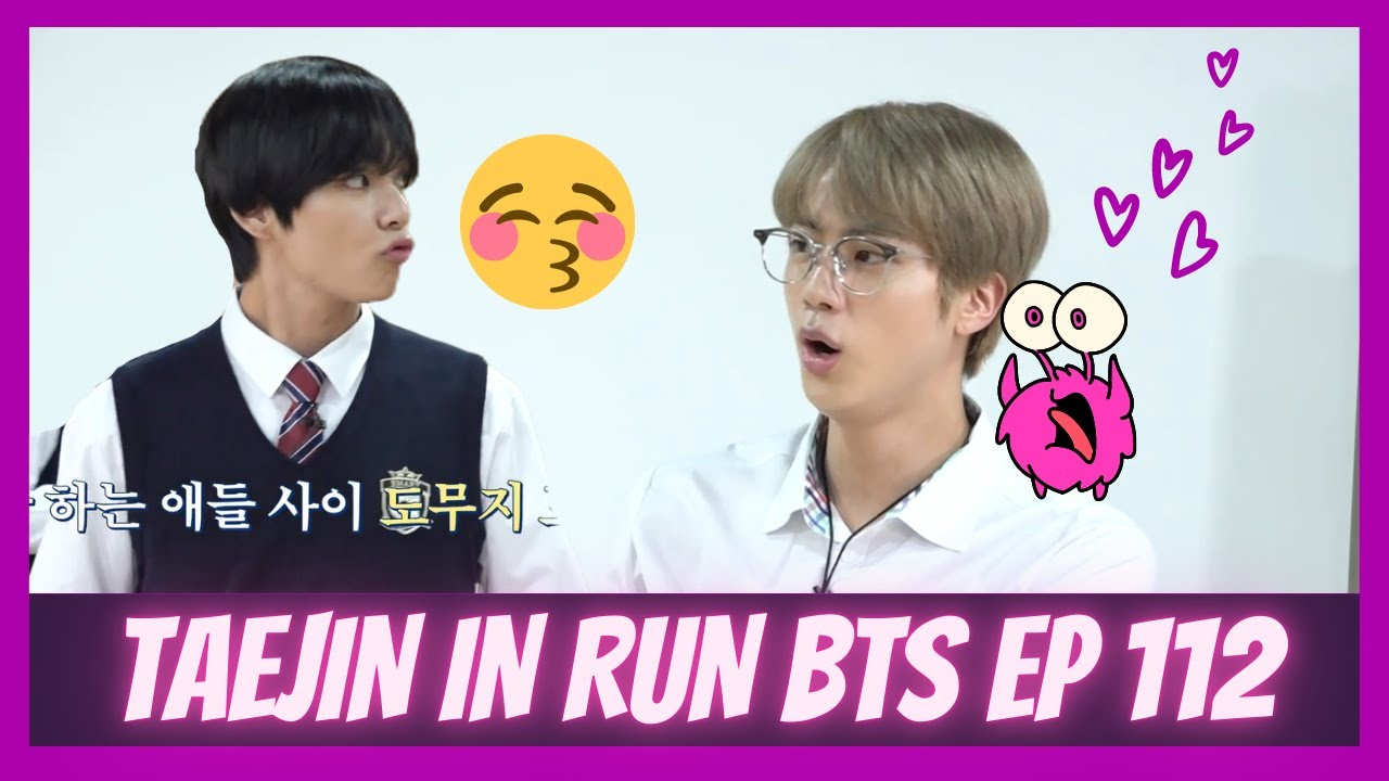 Run BTS Taejin new moments/analysis (kissing, flirting, giggling) 2020 with a fun twist:EP 112