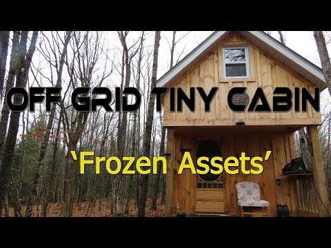 Off Grid Tiny Cabin: 'Frozen Assets'