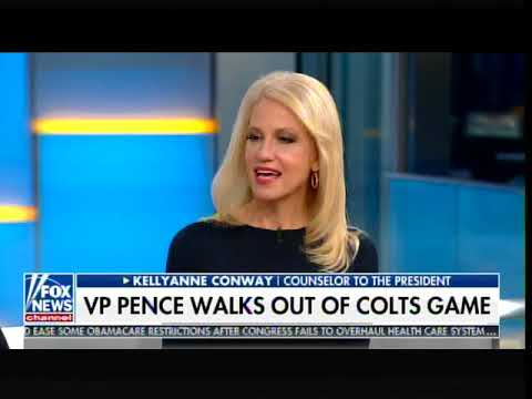 Top Democrat Calls Mike Pence Leaving Colts Game a Stunt - Kellyanne Conway Unloads