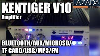 lAZADA PH - Kentiger V10 Amplifier Bluetooth/Aux/USB Quick test