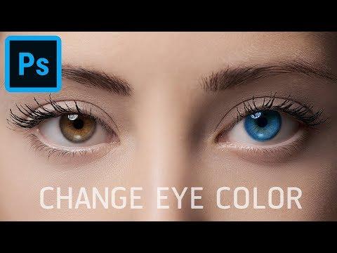 Change Eye Color สอนเปลี่ยนสีตาใน Photoshop แบบ ใน 30 วินาที!!!!