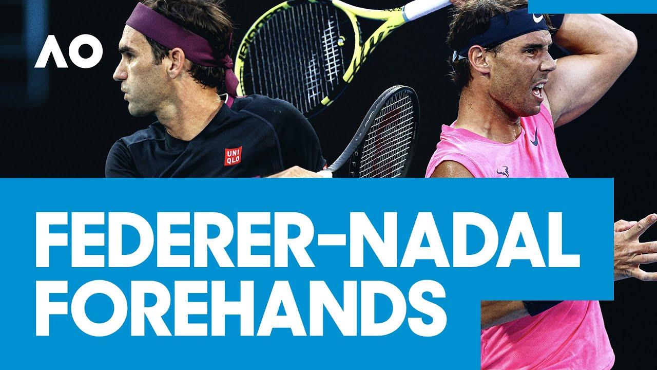 Federer & Nadal's best forehands | AO2020 hotshots