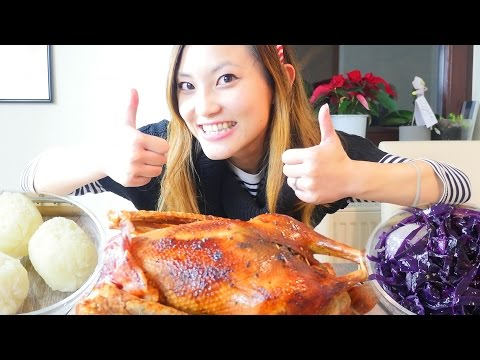 Traditional German Christmas food roast goose & red cabbage German recipe #17 德國傳統聖誕節晚餐