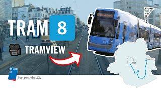Tram 8 : Louise-Louiza / Roodebeek [tramview] HD