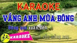 Vắng Anh Mùa Đông Karaoke || Beat Chuẩn
