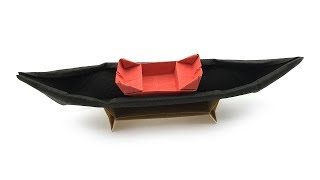 Gondola Origami Boat Tutorial (Hyo Ahn) thumbnail