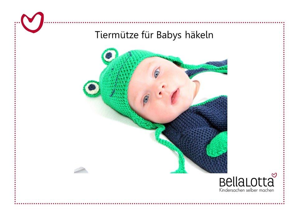 Tiermützen Für Babys Häkeln Mit Bellalotta Youtube