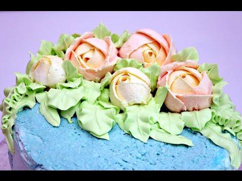 Крем для розочек на торт рецепт с фото пошагово