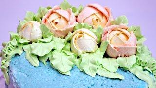 Розы из ванильного крема - Украшение тортов с Натальей Фёдоровой(, 2016-07-05T01:43:03.000Z)
