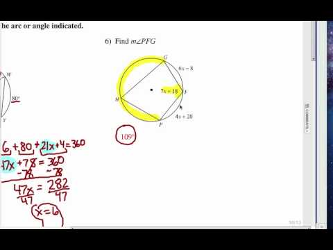 How to Study Central and Inscribed Angles of a Circle: Self Quiz 2 ...