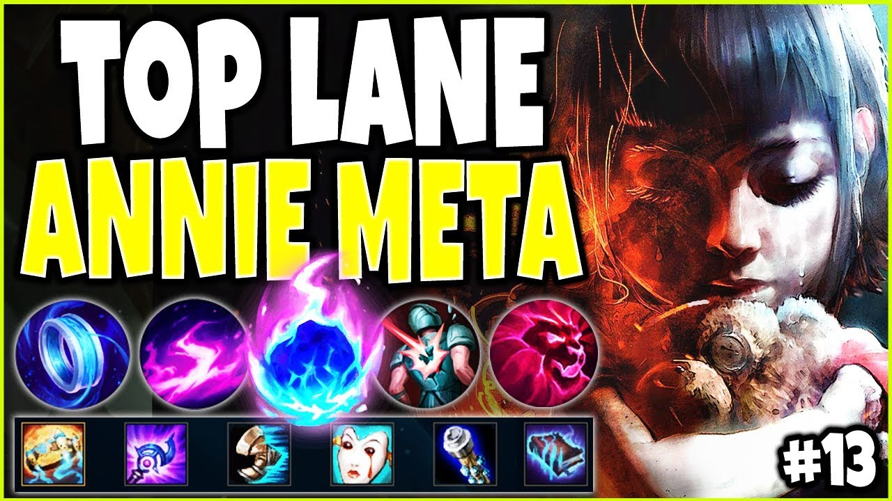 LOL META ANNIE TOP LANE SEASON 10 BUILD GUIDE #13 | INSANE ANNIE DAMAGE | LoL TOP Annie s10 Gameplay