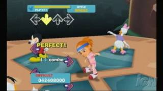 Dance Dance Revolution: Disney Grooves Nintendo Wii Gameplay - Streets of Gold