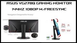 """Asus VG278Q Monitor Review : 27"""" 144hz Gaming Monitor"""