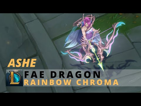 Fae Dragon Ashe Rainbow Chroma - - League Of Legends