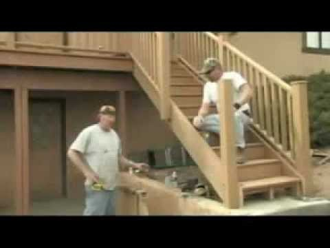 installing stair railing and finish your decking  YouTube
