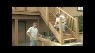 Installing Stair Railing And Finish Your Decking