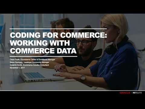 Webinar: Coding for Commerce - Working with Commerce Data