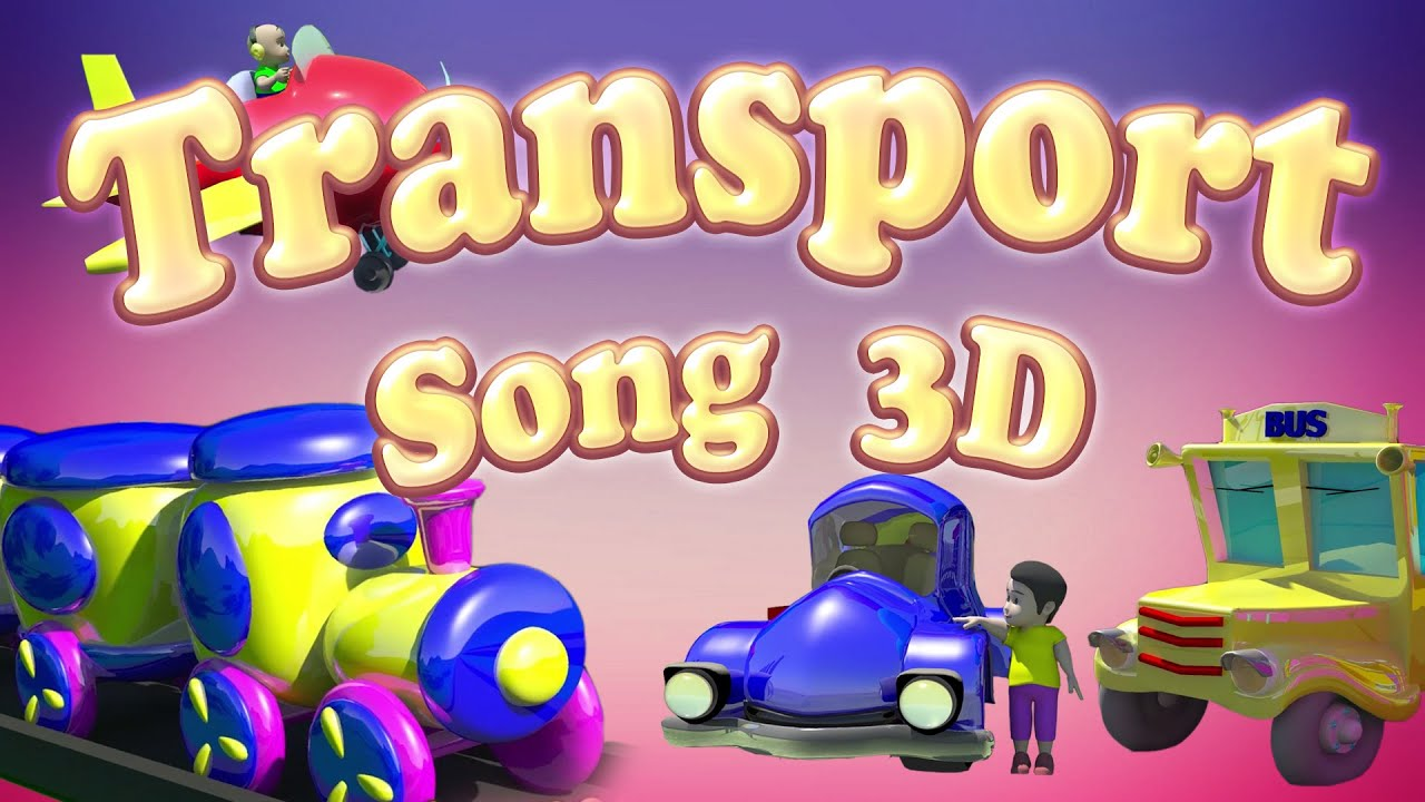 transport vehicles song bus song train song learn transport
