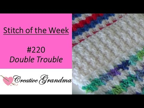 Stitch Of The Week #220 Double Trouble Stitch (Free Pattern At The End Of Video)