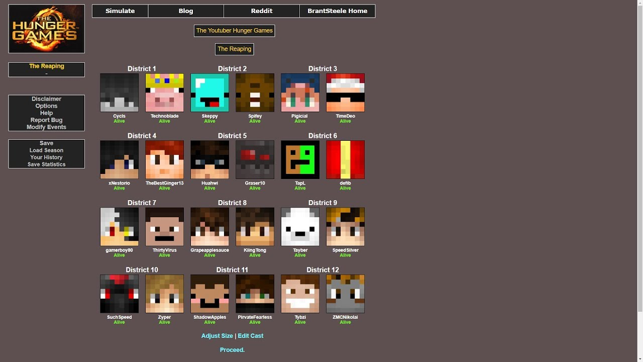 The ULTIMATE YouTuber HUNGER GAMES - Hunger Games Simulator