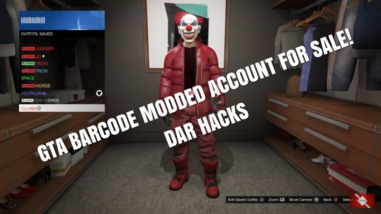 Barcode Ps4 Modded Account Sold Youtube