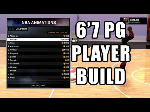 NBA 2K16 L 99 OVR 6'7 PG (BEST MYPLAYER BUILD)