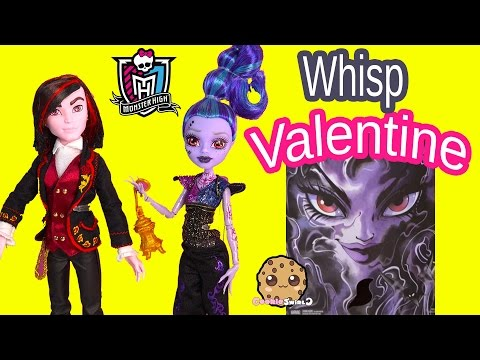 Monster High Valentine & Whisp Villain 2 Doll Pack SDCC 2015 Exclusive Dolls Toy Review Cookieswirlc