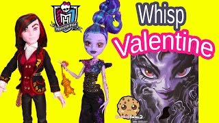 monster high valentine whisp villain 2 doll pack sdcc 2015 exclusive dolls toy review cookieswirlc