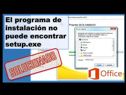 Error Office: El Programa De Instalación No Puede Encontrar Setup.exe|Setup Can Not Find Setup.exe
