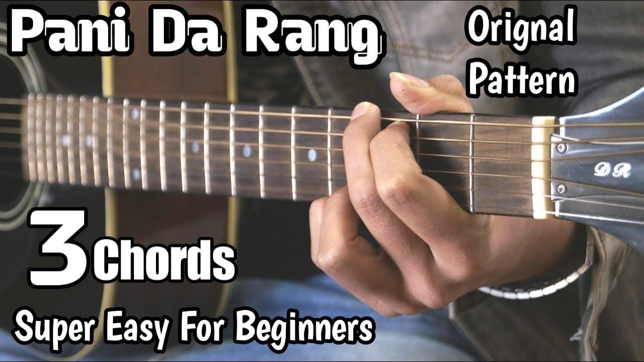 Pani Da Rang Guitar Lesson | Vicky Donor | 3 Open Chords | Easy Progression | Guitar Adda