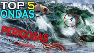 """TOP 5 -  ondas mais perigosas do mundo """"SURF""""(more dangerous waves)"""