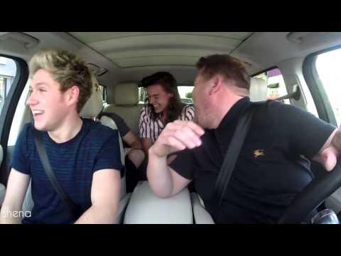 Drag Me Down with rap Carpool Karaoke James Corden + Lyrics