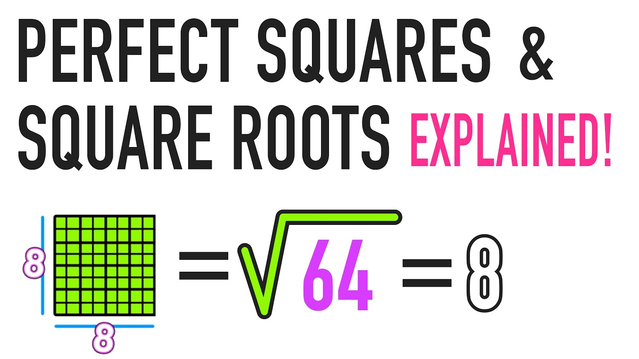 medium resolution of What is a Square Root and a Perfect Square? - YouTube