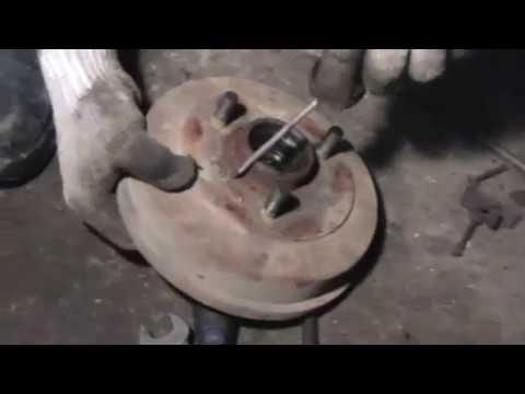 Замена и регулировка задних колодок ОКА