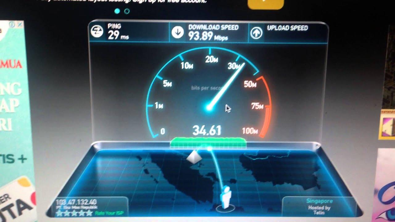 MyRepublic Indonesia Speedtest to Singapore - YouTube