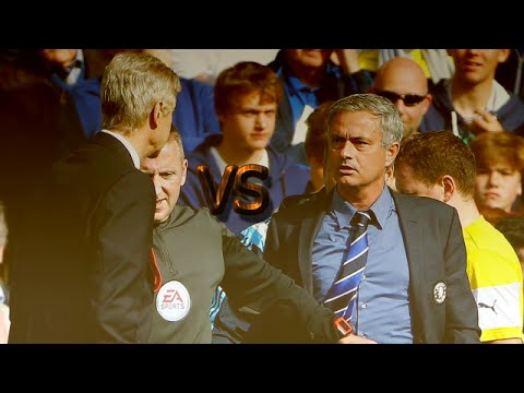 Арсен Венгер толкнул Жозе Моуринью в матче Челси - Арсенал 2:0 (Веселая озвучка)