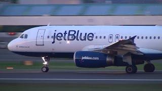 JetBlue (All Blue Can Jet) N531JL A320 Takeoff Portland Airport (PDX)