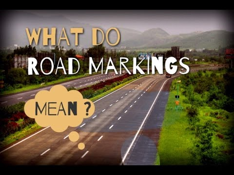 Meanings of Road Markings in India, Pavement markings, Traffic signs & symbols