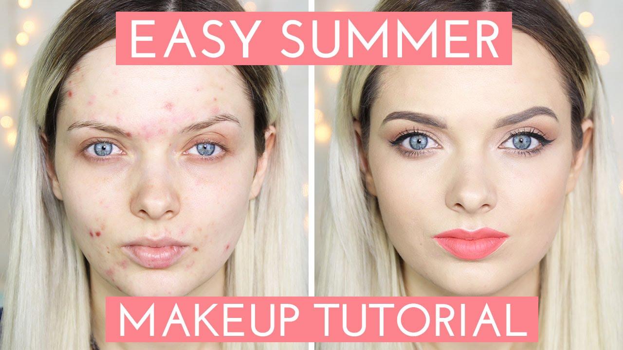 Dewy luminous makeup + skin prep for oily/acne prone skin.