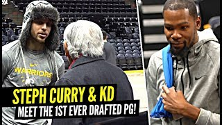 Steph Curry & Kevin Durant Meet The FIRST Point Guard Ever Drafted In The NBA!!