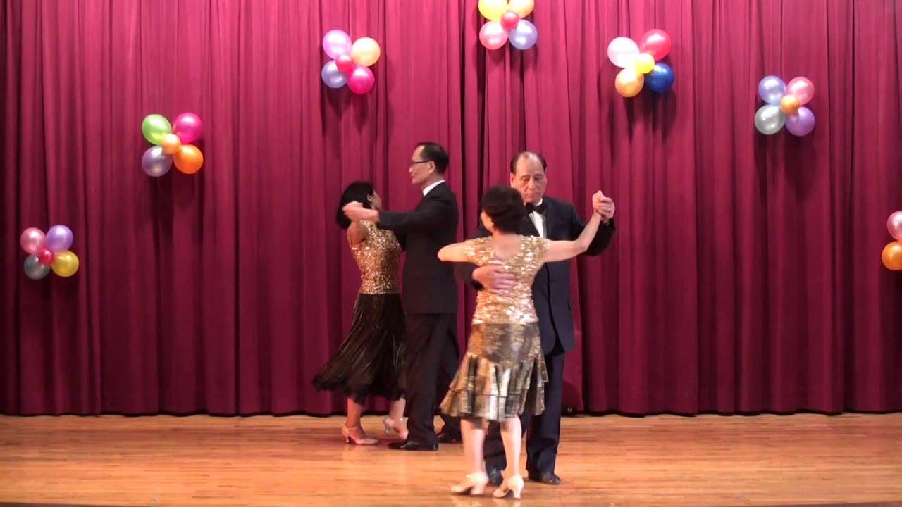 朱崙里104重陽聯歡會 雙人舞 裏町人生 - YouTube