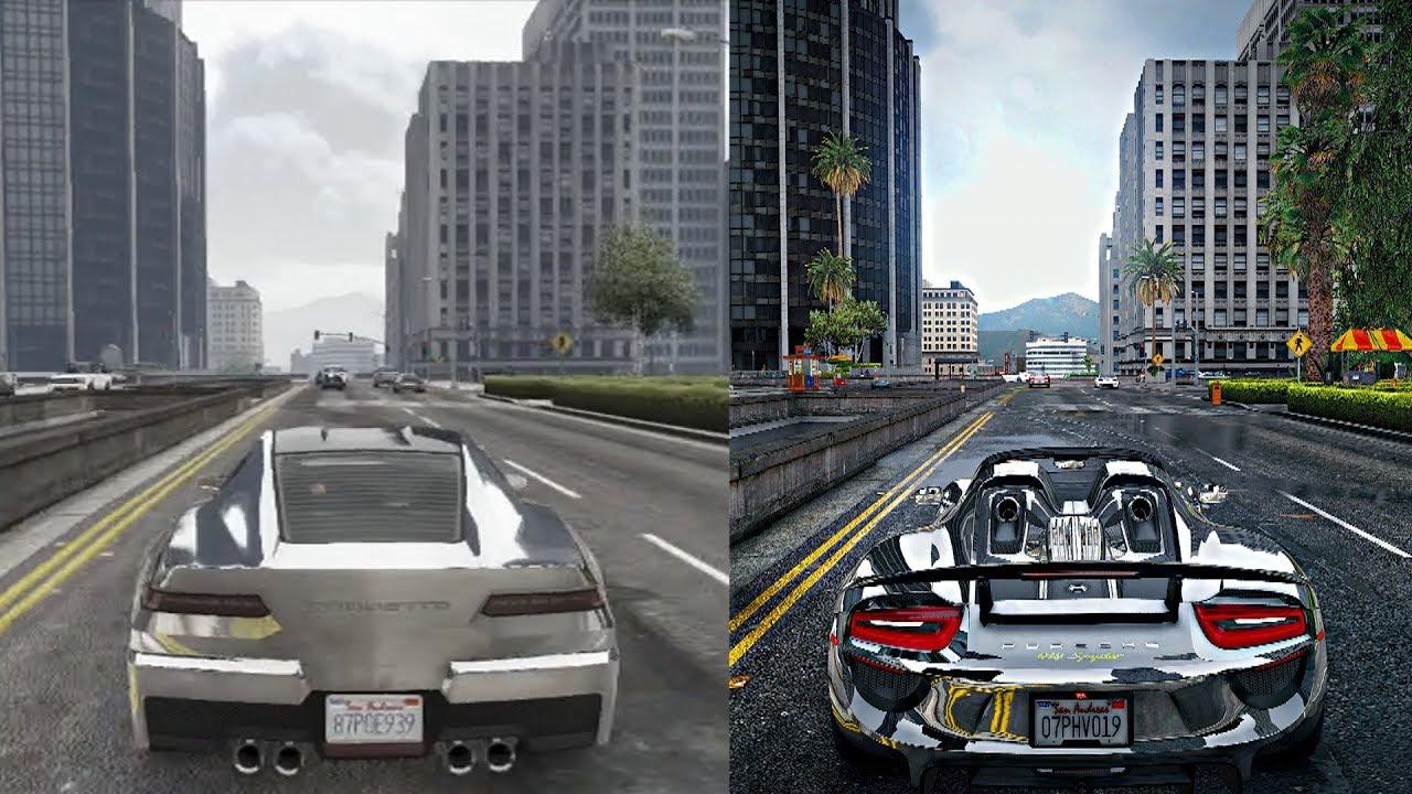 ►GTA 5 - PS3 vs $10,000 PC! Ultra Gaming PC NaturalVision Remastered  Graphics Mod!