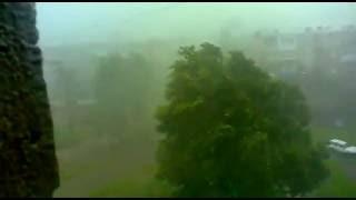 В #Харькове прошел сильный ливень с ураганом. 29.05.16