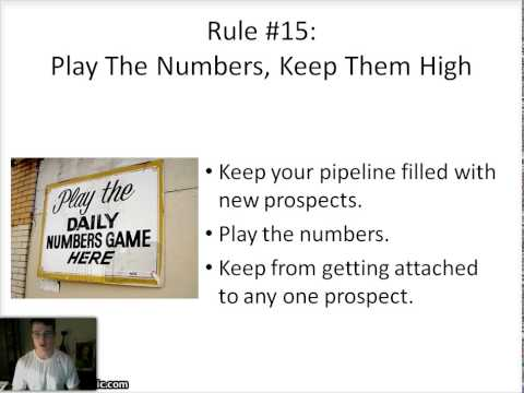 The Prospecting Business: 16 Rules Of Thumb To Effective Prospecting