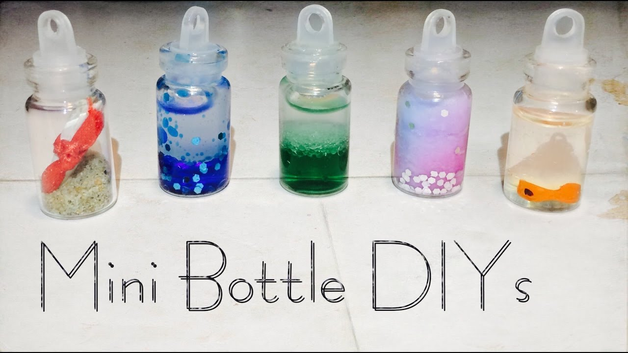 5 Diy Mini Bottle Charm Ideas Youtube