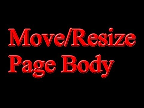 How to Move/Resize a Page Body in ViziGen-Page
