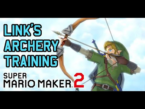 Link's Icy Archery Training - Super Mario Maker 2
