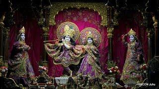 Sri Sri Radha Rasbihari Temple Mangal Arati Darshan 23rd Oct 2018 Live from ISKCON Juhu, Mumbai