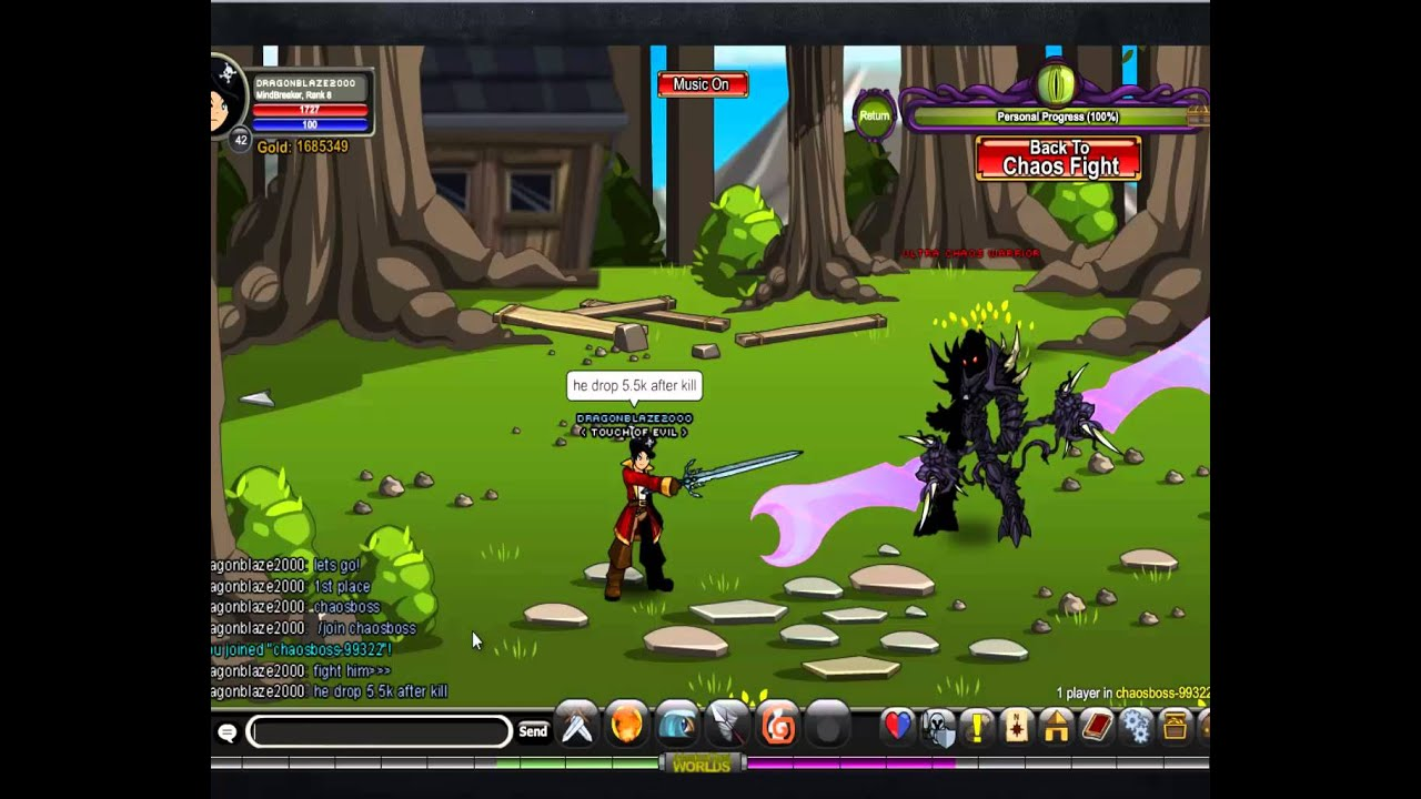 AQW dragon blaze best place to farm exp :D