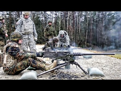 American Soldiers Train German Soldiers On U.S. Machine Guns